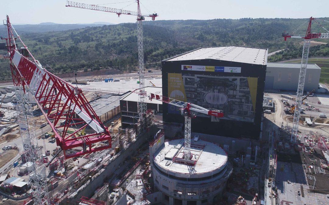 Drone sur le chantier Iter