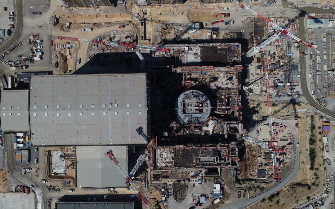 Iter : suivi de chantier par drone