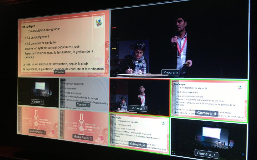 Une captation et un live la 5è édition des Rencontres Internatrionales du Rosé