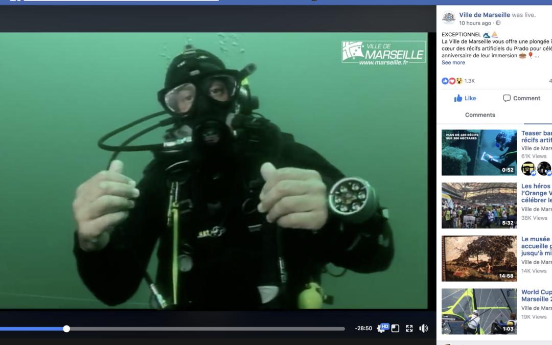 C'est parti pour le Facebook Live sous-marin