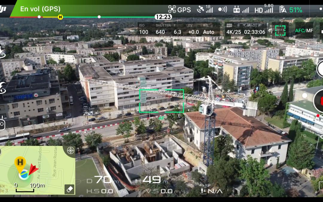 Chantier Aix-en-Provence en drone