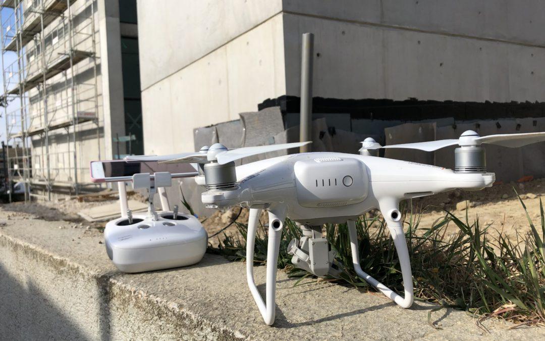 Suivi de chantier en drone